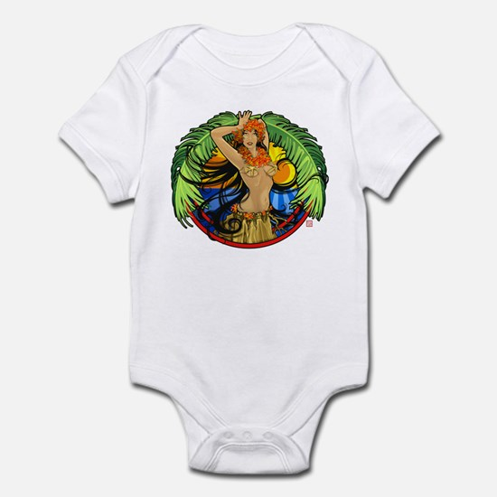 Hawaiian Hula Girl Infant Bodysuit