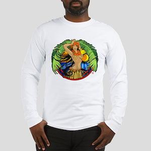 Hawaiian Hula Girl Long Sleeve T-Shirt