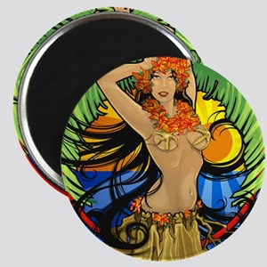 Hawaiian Hula Girl Magnet