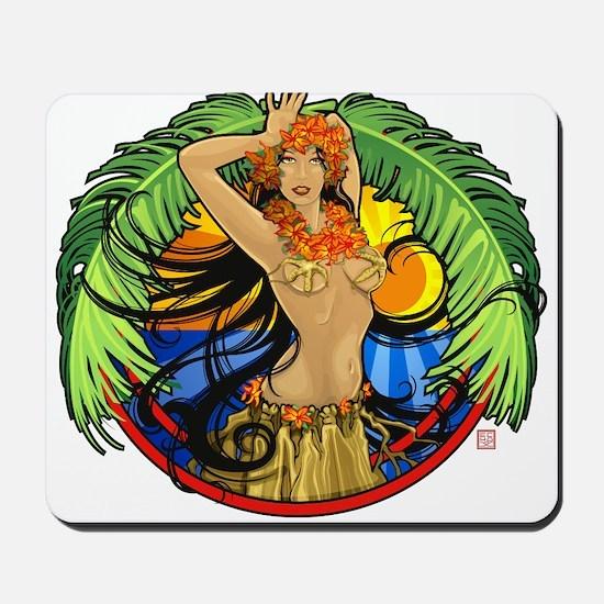 Hawaiian Hula Girl Mousepad