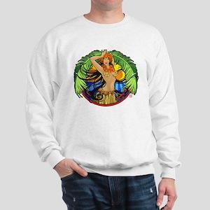Hawaiian Hula Girl Sweatshirt