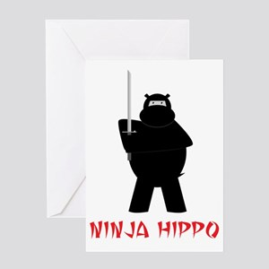 NinjaHippo Greeting Card