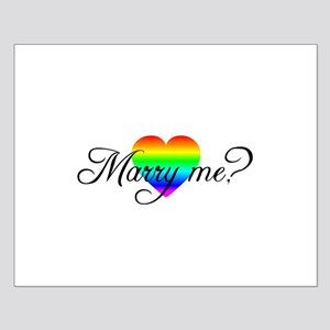 Marry Me? Rainbow Heart Small Poster