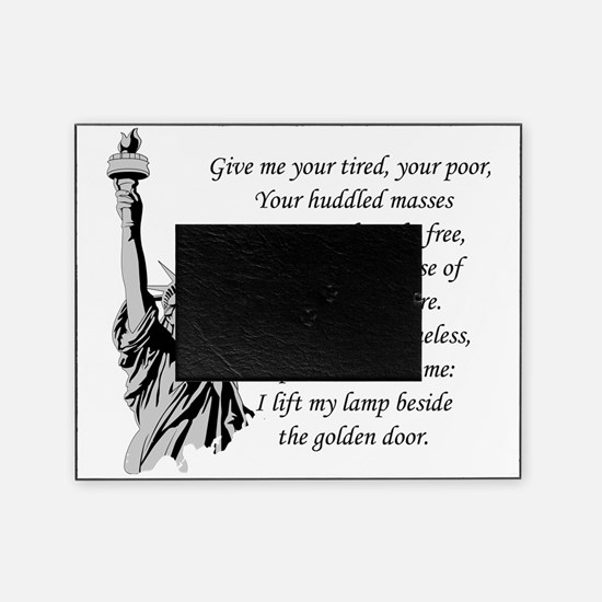 Statue-of-Liberty-quote-(white-shirt Picture Frame
