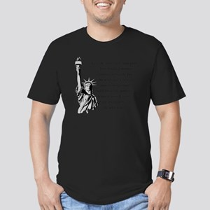 Statue-of-Liberty-quot Men's Fitted T-Shirt (dark)