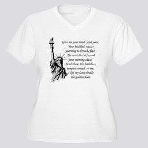 Statue-of-Liberty Women's Plus Size V-Neck T-Shirt