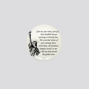 Statue-of-Liberty-quote-(white-shirt) Mini Button