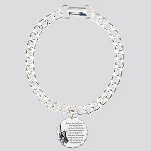Statue-of-Liberty-quote- Charm Bracelet, One Charm