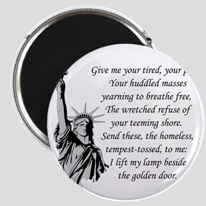 Statue-of-Liberty-quote-(white-shirt) Magnet