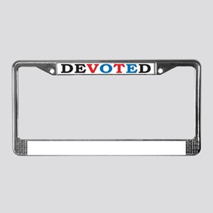 2-DEVOTED LIGHT SHIRT License Plate Frame