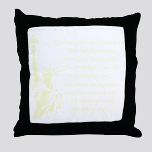 Statue-of-Liberty-quote-(black) Throw Pillow