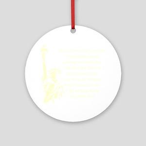 Statue-of-Liberty-quote-(black) Round Ornament