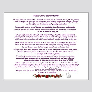 PoliceWife Poem Small Poster