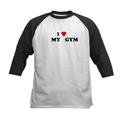 I Love MY GYM Kids Baseball Jersey