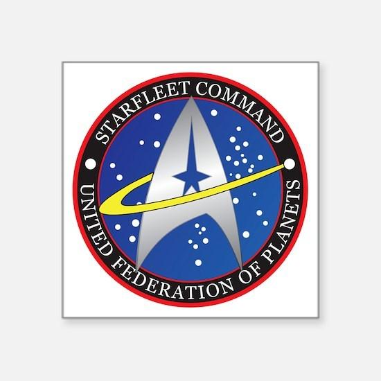 "StarfleetCommand Square Sticker 3"" x 3"""