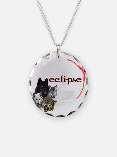 4-Twilight Eclipse Movie  Wo Necklace Circle Charm
