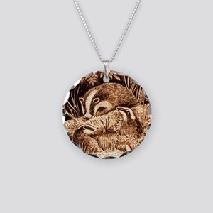 Badgers Necklace Circle Charm