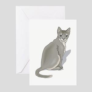 Grey cat Greeting Cards (Pk of 10)