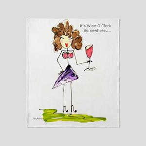 wine oclock Throw Blanket