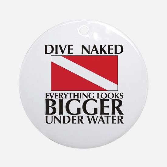 Dive Naked Ornament (Round)