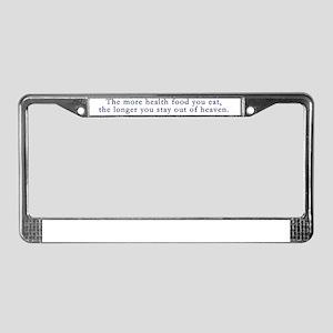 healthfood License Plate Frame