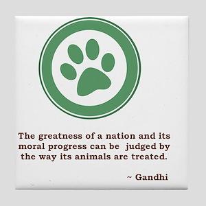 GandhiGreenPaw Tile Coaster