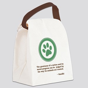 GandhiGreenPaw Canvas Lunch Bag