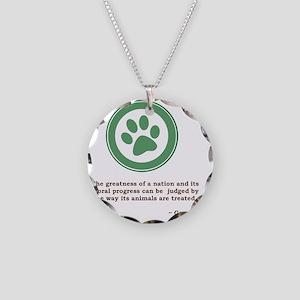 GandhiGreenPaw Necklace Circle Charm