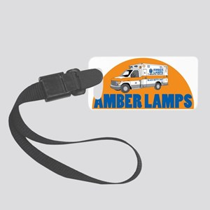 AMBER LAMPS WORD Small Luggage Tag