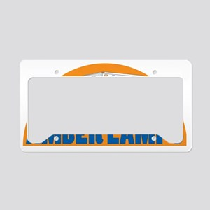 AMBER LAMPS WORD License Plate Holder