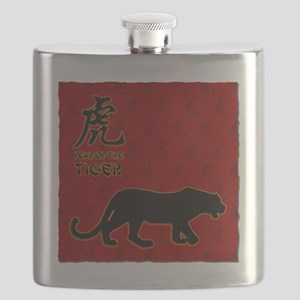 tiger_10x10_red Flask