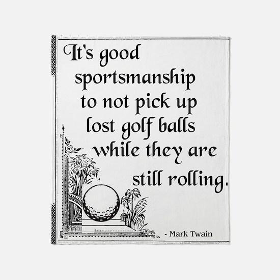 Golfsport3 Throw Blanket