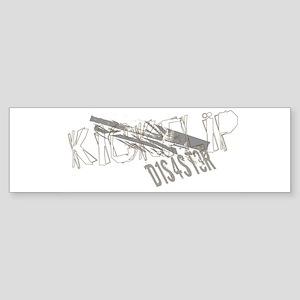 Kickflip Skateboard Bumper Sticker