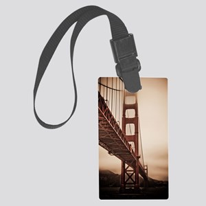 Golden Gate Bridge in The Fog Large Luggage Tag