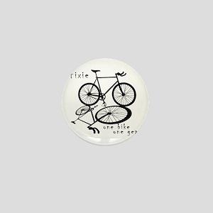 Fixie - one bike one gear Mini Button