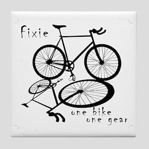 Fixie - one bike one gear Tile Coaster