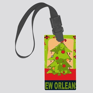 New Orleans Christmas tree Large Luggage Tag