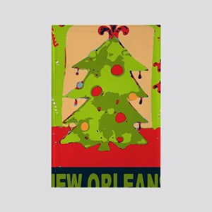 New Orleans Christmas tree Rectangle Magnet