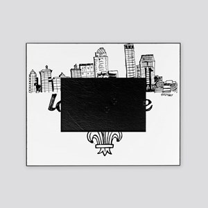 Lou drawing blk fluer Picture Frame