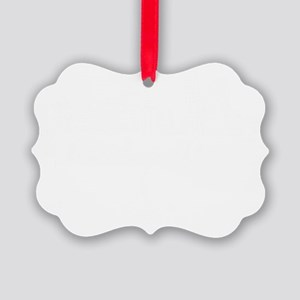 Lou drawing white fluer Picture Ornament