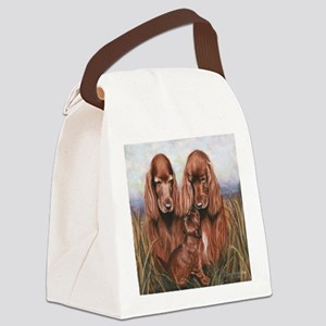 Irish_Setter_Dogs Canvas Lunch Bag