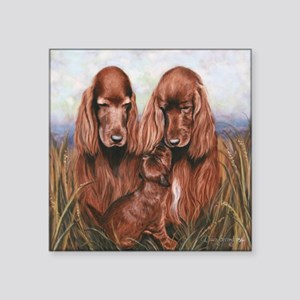"Irish_Setter_Dogs Square Sticker 3"" x 3"""