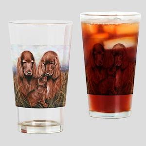 Irish_Setter_Dogs Drinking Glass