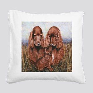 Irish_Setter_Dogs Square Canvas Pillow
