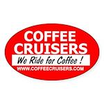 Coffee Cruisers Oval Sticker