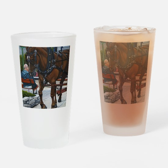 A day on the Island Drinking Glass