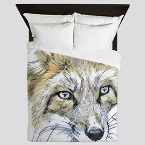 Fascinating altered animals -Fox Queen Duvet