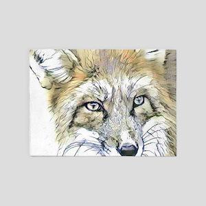 Fascinating altered animals -Fox 5'x7'Area Rug
