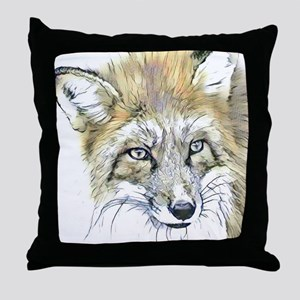 Fascinating altered animals -Fox Throw Pillow