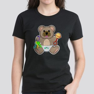 Cute Baby Teddy Bear Animal Women's Dark T-Shirt